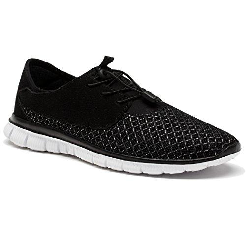 Daillor - Sandales Compensées Pour Hommes Noires