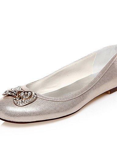 WSS 2016 Chaussures de mariage-Or-Mariage / Habillé / Soirée & Evénement-Bout Arrondi-Plates-Homme golden-us6.5-7 / eu37 / uk4.5-5 / cn37