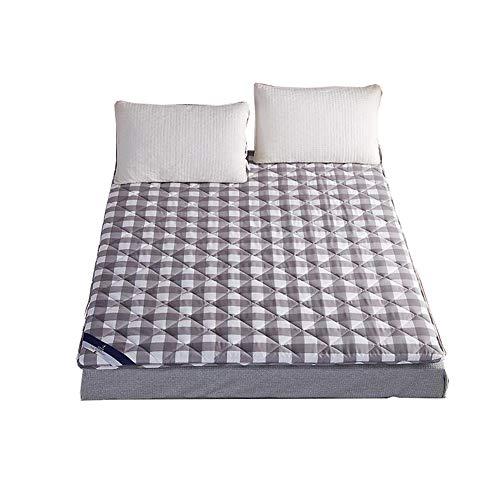 Gesteppte matratze ausgestattet Futon-matten Matratzenauflage Abdeckung Hautfreundliche, Tatami ergonomische matratze Folding Futon bodenmatten Dust mite & allergy control-Grau 180x200cm(71x79inch) -