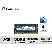 Timetec Hynix IC Apple DDR3 PC3-8500 1066MHz Memory Upgrade For iMac 20 inch /21.5 inch/24 inch /27 inch, MacBook Pro 13 inch/ 15 inch/ 13 inch, Mac mini 2009 2010 (8GB)
