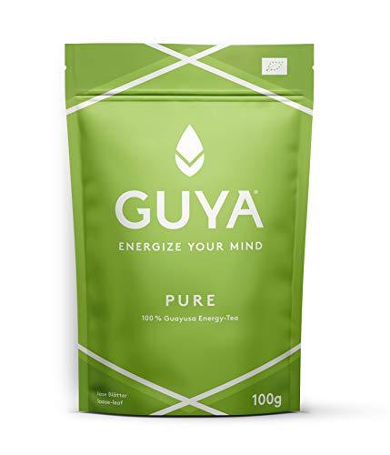 GUYA Bio Guayusa | PURE INFUSION | 100g lose - Energize Your Mind - für mehr Konzentration - mehr Leistung - mehr Kreativität | 100% natürlicher Bio Energy Drink Tee - reich an Koffein und L-Theanin