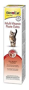 GimCat - Pâte multivitaminée Extra pour chat - Complément alimentaire riche en nutriments pour renforcer les défenses naturelles - Tube de 200 g