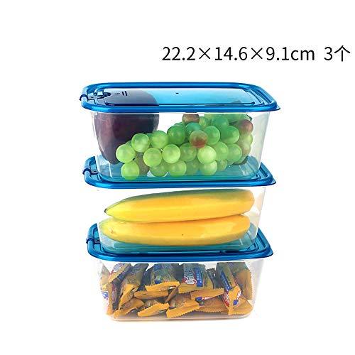 iHouse Rechteckige Aufbewahrungsbox für Kühlschränke X3, Lunchbox mit Mikrowellenheizung, Kunststoff transparent, Behälter für Kinder- und Erwachsenennahrung, ohne BPA -