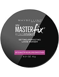Maybelline Master Fix Translucent Powder, farbloses Puder, fixiert das Make-up und mattiert den Teint den ganzen Tag lang, 6 g
