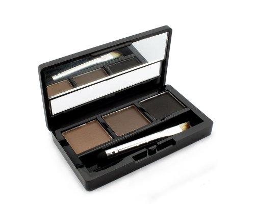 BONAMART Augenbrauenpuder Augenbraue Powder Palette, 3 Farben Eye Braue mit Pinsel und Spiegel Makeup Set Kit