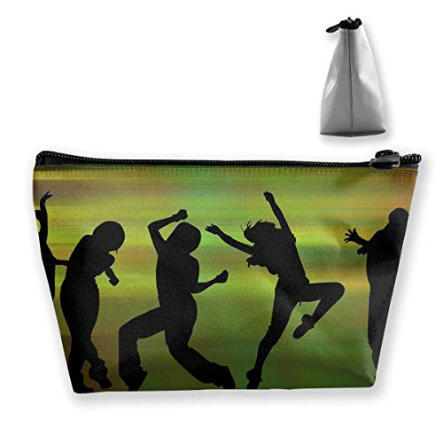 Trapez Reise Make-up Taschen Kulturbeutel Tragbare Stiftetui Fall Street Dance Cosmetic Bags (Caboodles Große Make-up Fall)