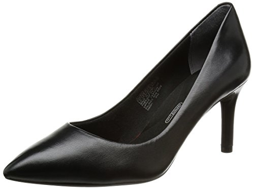 Rockport TOTAL MOTION Pointy Toe Pump, Damen Pumps, Schwarz (BLACK), 38.5 EU (Toe Schwarz Leder Pointy)