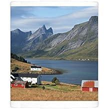 Photo Mug of Farmhouses in the country, Lofoten Islands, Nordland, Norway, Scandinavia