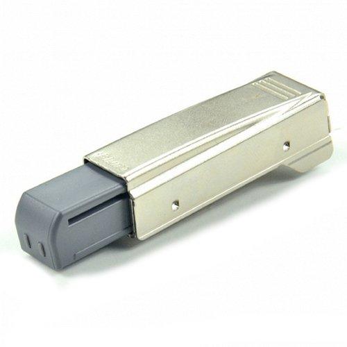 Blum Blumotion gerader Arm Full Overlay Scharnier für Türen, Nickel Finish, Pack of 1, nickel, 1