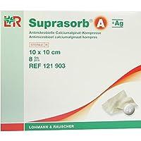SUPRASORB A+Ag Antimik.Cal.Alginat Kompr.10x10 cm 8 St Kompressen preisvergleich bei billige-tabletten.eu