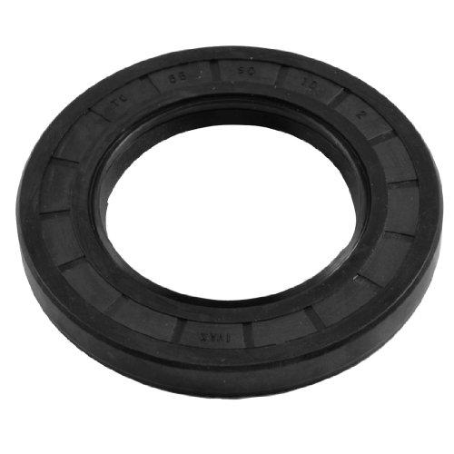 Lippe Oil (Schwarz Nitrilkautschuk Dual-Lippen Oil Shaft Seal TC 55mm x 90mm x 10mm)