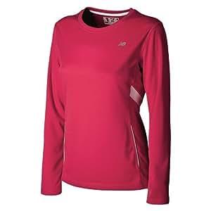 New Balance Damen Running Shirt CB LONG SLEEVE TEMPO, virtual pink, L, WRT2135 T.US