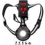 Thiroom Luce Corsa Ricaricabile USB, Impermeabile Night Running Lampada Light LED con 3 modalità per Jogging, Camminare, Campeggio, Pesca