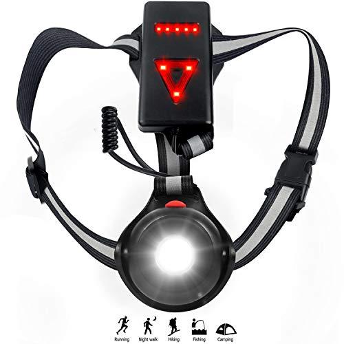 Thiroom Luce Corsa Ricaricabile USB, Impermeabile Night Running Lampada Light LED con 3 modalità per Jogging, Camminare, Campeggio, Pes