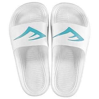Everlast Kids Sliders Slip On Shoes White/Turq UK 4 (37)