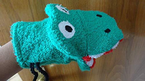 Waschhandschuh/Waschlappen Krokodil für Kinder