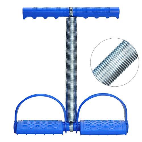 Podazz Home-Fitness Bauchtrainer Elastisches Sit Up Zugseil Federspannung Fußpedal Bauchtrainer Bauch Trimmer Ausrüstung für Bauch, Taille, Arm, Bein, Bauch Stretching Slimming Yoga Crunches - blau