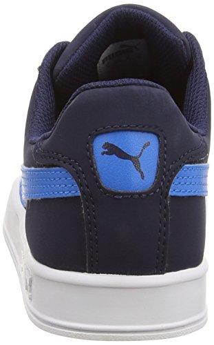 Puma Unisex-Erwachsene Smash Vulc Low-Top, Weiß (White-Peacoat 10) Blau (peacoat-cloisonné 06)