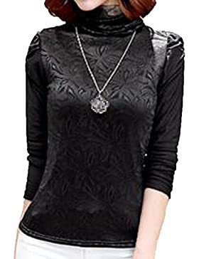 XGMSD Mujer Espesamiento Bottoming Camisa Otoño Invierno Poliéster Práctico
