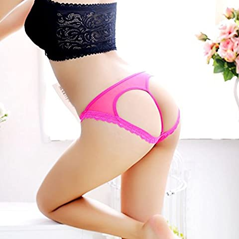 YUPN Sra ropa interior Los encajes de interés chiffon transparente en forma de corazón lencería Panty bikini bragas,un