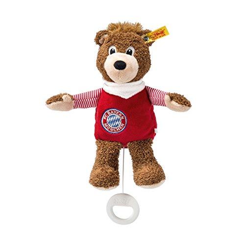Steiff 290015 Berni Spieluhr 24 braun/rot FC Bayern