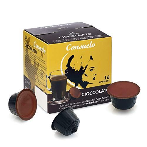 Consuelo - Cápsulas compatibles con cafetera Dolce Gusto*: chocolate, 96 unidades (16 x 6)