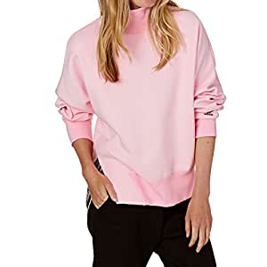Adidas Sweatshirt, Felpa Donna, Rosa (Rosmar), 40
