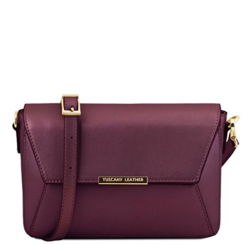 Tuscany Leather TL Bag - Pochette in pelle Ruga metallic - TL141649 (Celeste) Bordeaux