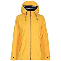 Gelert Womens Coast Waterproof Jacket Coat Top High Neck Lightweight Hooded Zip Gelert Yellow 12 (M)
