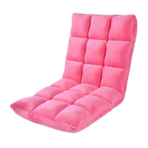 GHM Campingstuhl Boden Stuhl 6 Dateien Einstellbare Faltbare Bay Windo Stühle Einzel Sofa Freizeit Recliners Last 120 kg (Farbe : Pink) -