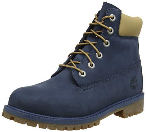 Timberland Unisex-Kinder 6-inch Premium Wp Klassische Stiefel, Blau (Vintage Indigo Nw4), 37 EU -