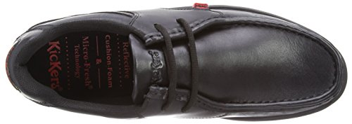 Kickers Reasan Lace Leather AM, Chaussures de ville homme Noir (Black)