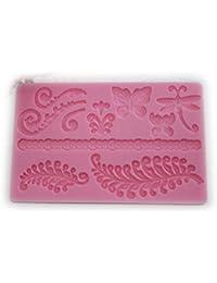 Auket Relief papillon libellule Fondant à gâteau en silicone Cookie Cutter bord Border #119 (3DMold-119)