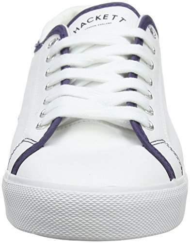 Hackett London Mr Classic Plimsole, Sneaker Uomo Bianco (White)