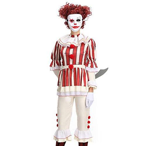 QWE Halloween Kostüm Cosplay Kostüm Horror Thriller Film Evil Clown Pack Adult Performance - Klassische Horror Filme Kostüm