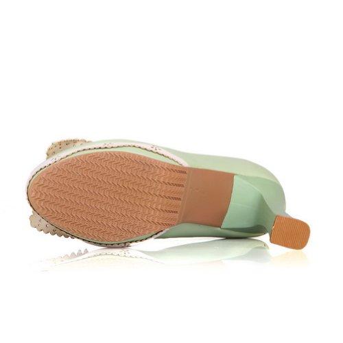 Adee , Sandales Compensées femme Vert - Vert clair