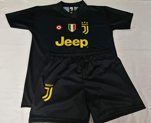 Completo terza maglia nera juventus paulo dybala 10 replica autorizzata 2018-2019 bambino (taglie-anni 2 4 6 8 10 12) adulto (s m l xl) (8 anni)