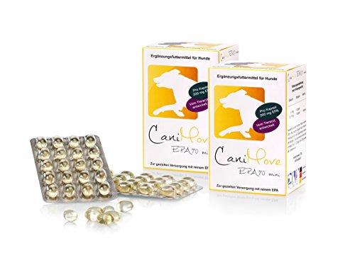 CaniMove EPA70 Mini Spar-Paket, 200 Kapseln mit je 200 mg EPA für die natürliche Modulation des Immunsystems ohne Nebenwirkungen zur ergänzenden Fütterung bei chronischen Problemen Kleiner Hunde