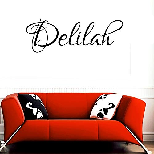 Delilah Blumen (wandaufkleber feuerwehr Delilah Mädchen Name Junge Name Buchstaben Kinderzimmer VINYL WALL ART AUFKLEBER AUFKLEBER)