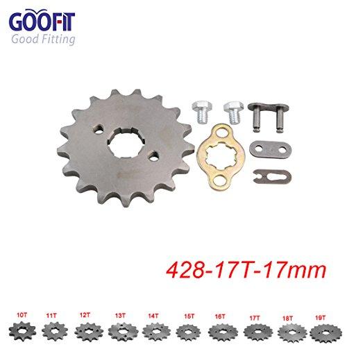 GOOFIT 428 17 T 17mm Motorrad Motor Kettenritzel Kettenräder Ritzel kleines Kettenrad For 50cc 70cc 90cc 110cc Motorcycle Dirtbike ATV Quad
