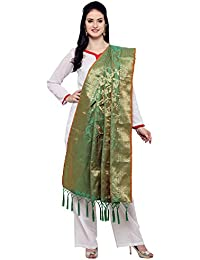 New Woven Silk Banarasi Dupatta By Ravechi Fab (Green)