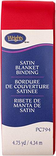 Wright Produkte Single Fold Satin Decke Bindung, Scarlet, 5,1cm X4-3/4Yd -
