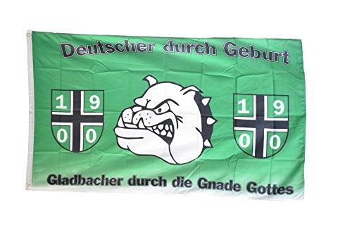 Flaggenfritze® Flagge Fanflagge Mönchengladbach - Gladbacher durch Gnade Gottes - 90 x 150 cm