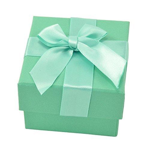 paialco Paket Papier Band Schleife Geschenk-Box, Papier, grün, M