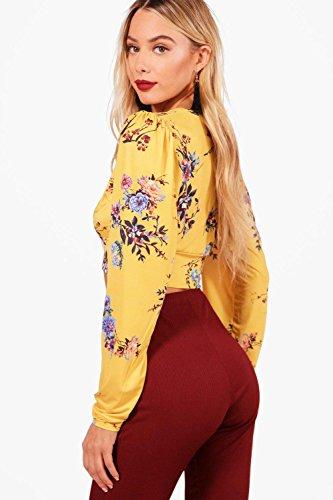 ambre Femmes Molly Slinky Oriental Plunge Crop Ambre