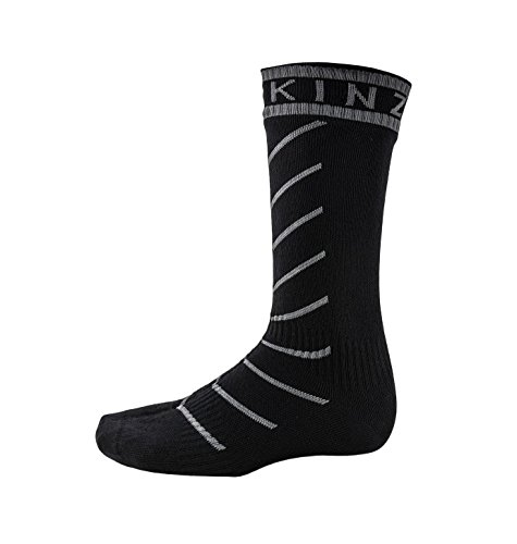 SealSkinz Unisex Erwachsene Socken Mid Length Waterproof, Mehrfarbig (Black/Grey), 39-42 EU (Herstellergröße: M) -