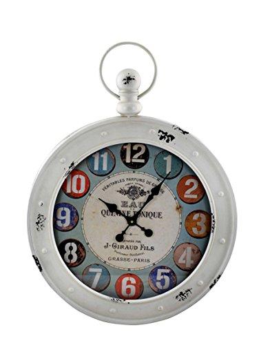 happyDko Grande Horloge rétro Forme Gousset : Eau Tonique de Grasse, H 80 cm