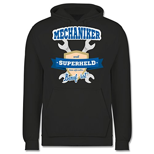 Handwerk - Mechaniker - weil Superheld kein offizieller Beruf ist - Männer Premium Kapuzenpullover / Hoodie Dunkelgrau