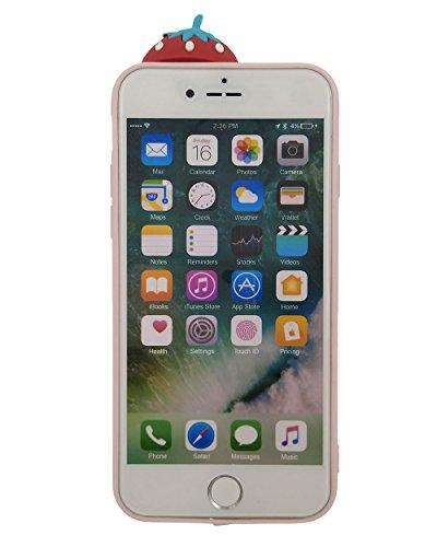 iPhone 7 Hülle, BENKER Hohe Qualität Kreativ Anti-Kratz Nicht Verblassen TPU Silikon Frucht Telefon Fall - Erdbeere Erdbeere