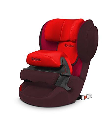 Cybex silver seggiolino auto per bambini juno 2-fix, per auto con e senza isofix, seggiolino auto gruppo 1 (9-18 kg), rumba red